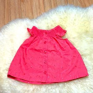 Coral Button Up Tank Top 12M
